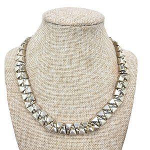 Uno de 50 Sarabi 925 Silver Triangle Necklace